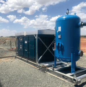 compressed air systems for mining